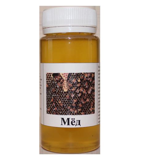 Флакон мёда 110 мл (200 грамм) в подарок